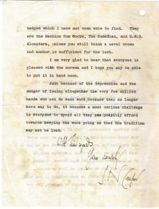 Letter Comper re shields Oct 25 1932 1